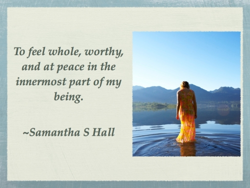 Samantha Hall's quote on acceptance
