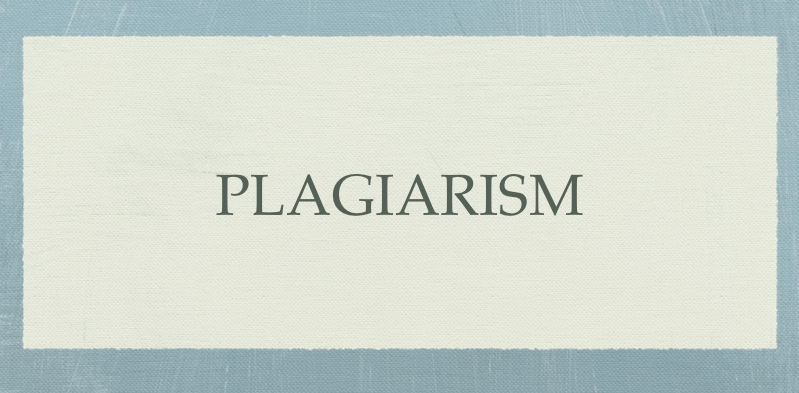 I'm gonna get done for plagirism anyways?